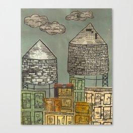 Watertowers Canvas Print
