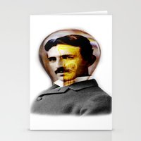 tesla Stationery Cards featuring Tesla by EclipseLio