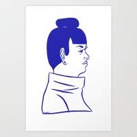 alt j Art Prints featuring J. by Alex DeSpain