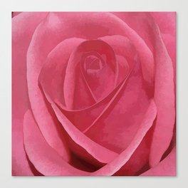 Blushing Rose Canvas Print