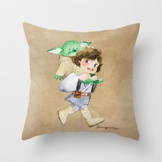 Not a backpack Throw Pillow
