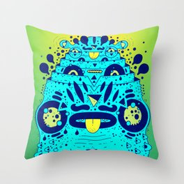 soggy froggy Throw Pillow