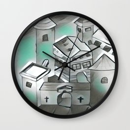 Castle under the Moon Wall Clock