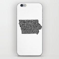 Typographic Iowa iPhone & iPod Skin