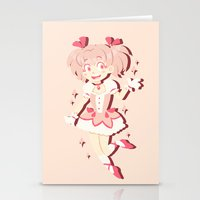 magical girl Stationery Cards featuring Become A Magical Girl!  by Minty Art