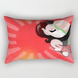 Sushi girl goes to Japan Rectangular Pillow