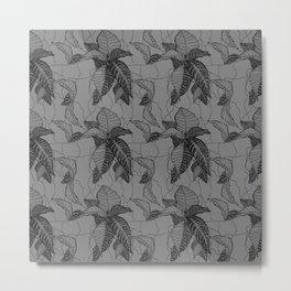 Croton in Grey Metal Print
