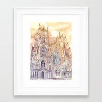 takmaj Framed Art Prints featuring York by takmaj