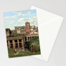 Christoffer Wilhelm Eckersberg View of the Cloaca Maxima, Rome Stationery Cards