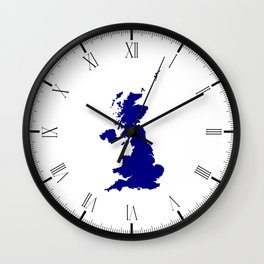 U.K. and Northern Ireland Silhouette Wall Clock