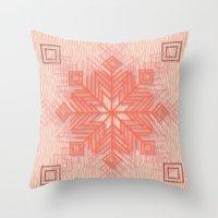 snowflake Throw Pillows featuring Snowflake by Siddika