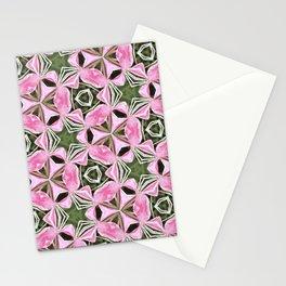 Kaleidoscopic flowers Stationery Cards