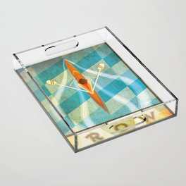 The Serenity of Rowing Acrylic Tray