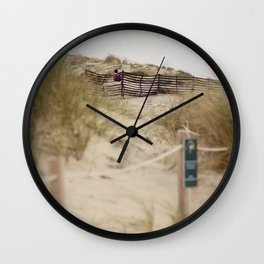 Walking In The Dunes Wall Clock