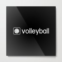 Volleyball (Grey) Metal Print