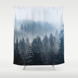 Forest Fog Mountain - Wanderlust Nature Photography Shower Curtain