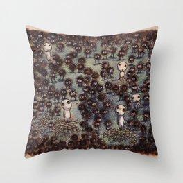 Soot sprites (Susuwatari) Throw Pillow