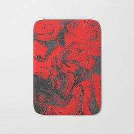 Black & Red Marble I Bath Mat