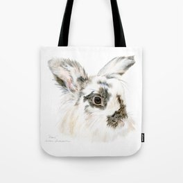 Pixie the Lionhead Rabbit by Teresa Thompson Tote Bag