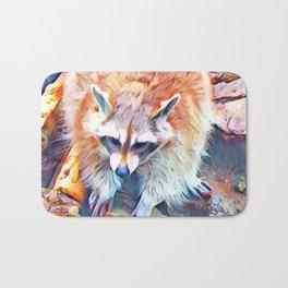 Aquarell Raccoon Bath Mat