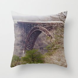 High Above the New River Gorge Throw Pillow