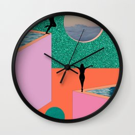 EAT A DICK / YOU SELFISH PRICK Wall Clock