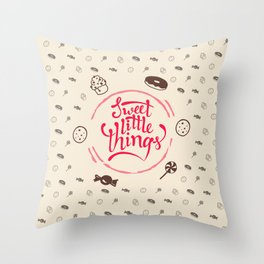 Sweet Little Things Throw Pillow