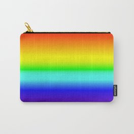 Vivid Rainbow Gradient Carry-All Pouch