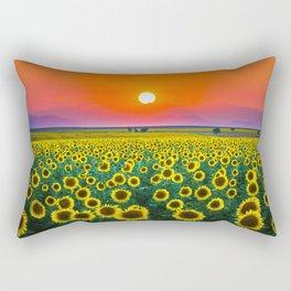 Sunflower Haze Rectangular Pillow