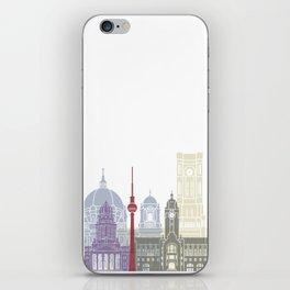 Berlin skyline poster iPhone Skin