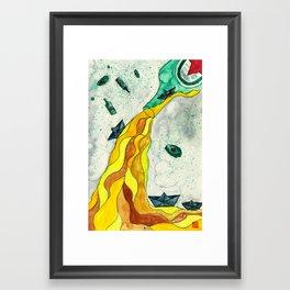 Floating like Alcohol Framed Art Print