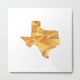 Texas Pattern Map Art Metal Print