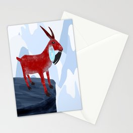 Mountain Goat Design Stationery Cards