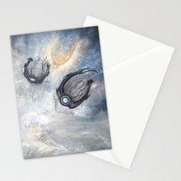 Starships Derelict Space Stationery Cards