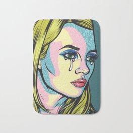 Blonde Crying Model Comic Girl Bath Mat
