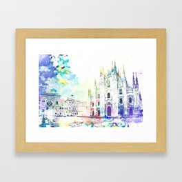 Milano, Piazza del Duomo Framed Art Print