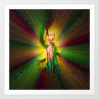Heavenly appearance angel 10 Art Print
