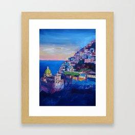 Amazing Amalfi Coast at Sunset in Italy Framed Art Print