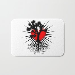 Joshua Tree Heart of the Hi Desert by CEYES Bath Mat