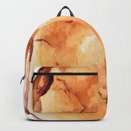 Amber Crystal Watercolor Backpack