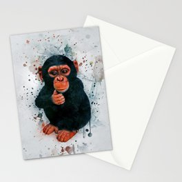 Baby Chimpanzee Stationery Cards