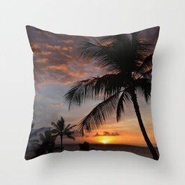 hawaiian sunset 2 Throw Pillow