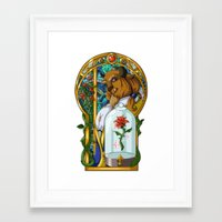 beast Framed Art Prints featuring Beast by Two Tiger Moon Studio