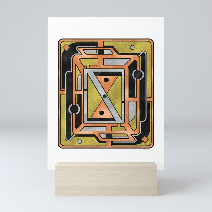 Star Chart - Metallic Coloring Mini Art Print
