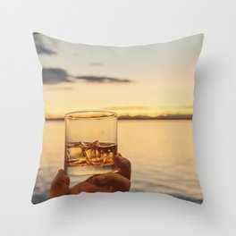 Cheers to the Sea Throw Pillow