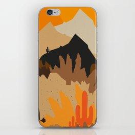 The heat of the desert iPhone Skin
