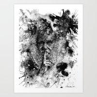 darwin Art Prints featuring Darwin by Psyca