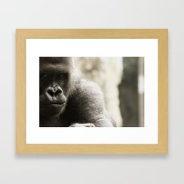 Koga, Intimidation Framed Art Print
