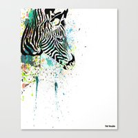 zebra Canvas Prints featuring Zebra by Del Vecchio Art by Aureo Del Vecchio