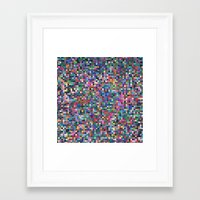 stained glass Framed Art Prints featuring stained glass by spinL